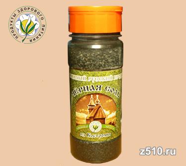 Чёрная четверговая соль из Костромы Солонка крупная 150 гр.