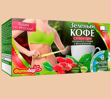 «Фитодар» Кофе зеленый с годжи (фильтрпакеты)