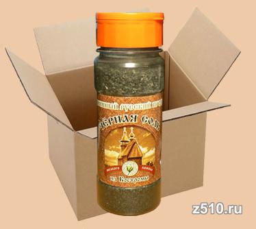 Чёрная четверговая соль из Костромы Солонка мелкая 150 гр.